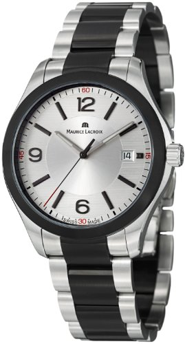 Maurice Lacroix Miros Men's Silver Dial Black PVD Stainless Steel Watch MI1018-SS002-131