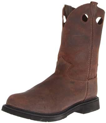 Justin Original Work Boots Men's American Traditionals PN Steel Toed Work Shoe,Dark Mountain,7.5 D US