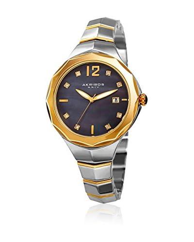 Akribos XXIV Reloj de cuarzo Woman Plateado / Dorado 37 mm