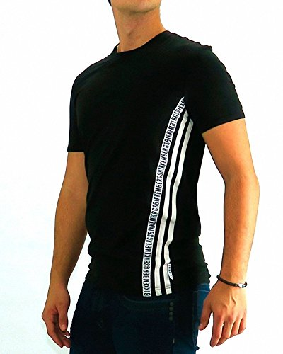 Bikkembergs - Tshirt Dirk Bikkembergs Three Stripe Black - XL, nero