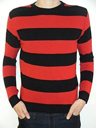 Mens Red and Black stripey dennis the menace jumper ALL SIZES (small)