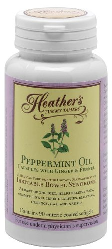 Peppermint Oil Capsules for Irritable Bowel Syndrome ~ Heather's Tummy Tamers - 90caps