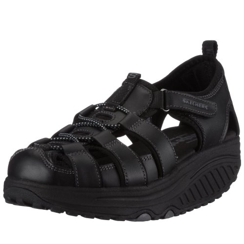 Skechers Women's Shape Ups trim Step Walking Shoe Black 11805 BBK  3.5 UK