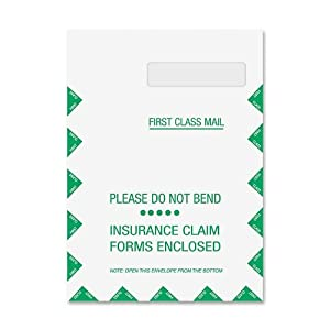 TOPS CMS-1500 Form Self-Seal Window Envelopes, Box of 500 (TOP50992)