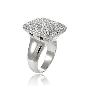 5.00 Ct Round Diamonds Pave Setting Ring & Earrings & Pendant Set 18k White Gold