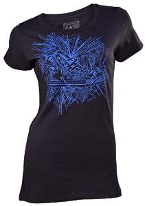 Converse Women's Chuck Taylor All Star Transparent T-Shirt-Black-XS