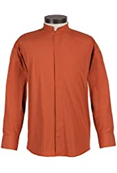Men's Long-Sleeve Banded Collar Dress Shirt - Huge Selection of Colors and Sizes