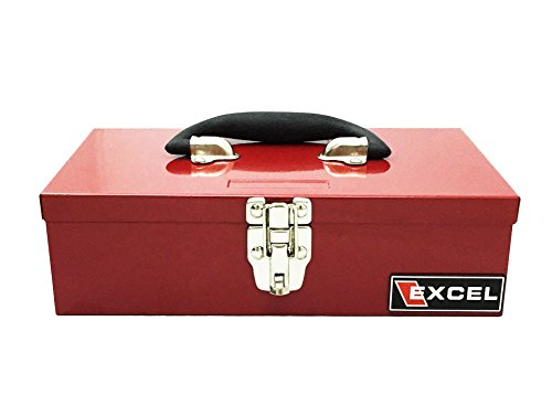 Excel TB105A-Red 11-Inch Portable Steel Tool Box, Red (Steel Toolbox Hinge compare prices)