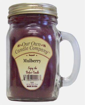 Mulberry 13 oz Mason Jar Candle (Our Own Candle Company Brand) Made in USA - 100 hr burn time
