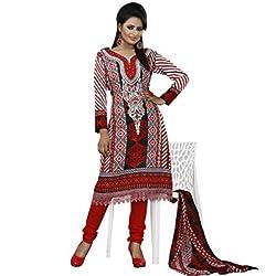 Khazana Women's Unstitched Dress Material (khazana-pk-02_Red _Free Size)