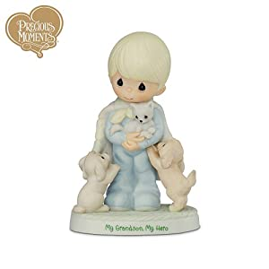 Precious Moments My Grandson, My Hero Figurine by The Hamilton Collection