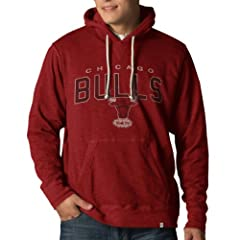 NBA Chicago Bulls Slugger Pullover Hoodie Jacket, Rescue Red by