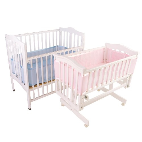 Breathablebaby Breathable Mesh Liner For Portable And Cradle Cribs, Pink