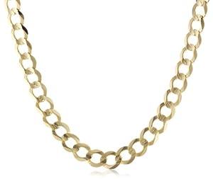 "Men's 14k Yellow Gold 5.9mm Cuban Chain Necklace, 22"""