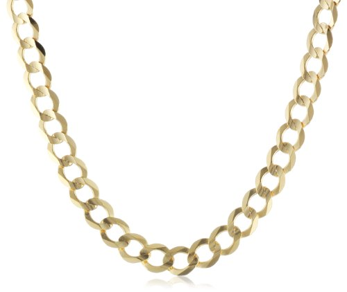 Men's 14k Yellow Gold 5.9mm Cuban Chain Necklace, 22