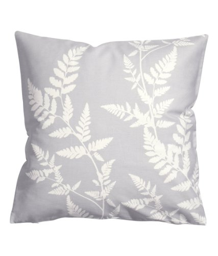 """Botanical Nature Accent Decorative Throw Pillow Cover 100% Cotton Throw Pillow Cover Cushion 20 X 20"""" (Gray) front-1065364"""