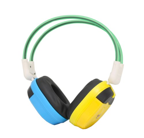 Bravo View IH-03A - KID FRIENDLY Automotive IR Wireless Headphones (Blue/Yellow)