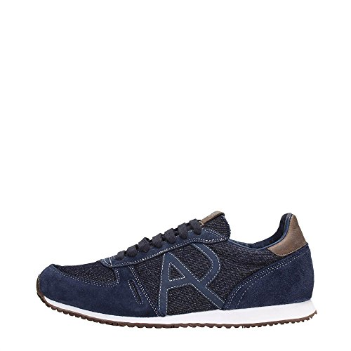 Scarpe uomo Armani Jeans, sneaker in denim, art. C652444 (45, Denim)