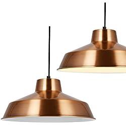 [lux.pro] Hängeleuchte Design Decken-Lampe Kupfer Metall [Ø35cm] Pendelleuchte