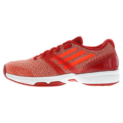 Women`s Adizero Ubersonic Tennis Shoes Power Red and Solar Red