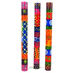 Set of Three Boxed Tall Hand-Painted Candles - Shahida Design - Nobunto Candles