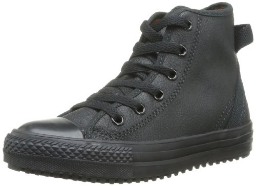 CONVERSE Chuck Taylor All Star Hollis Hi Trainers Unisex-Child Black Schwarz (NOIR) Size: 30