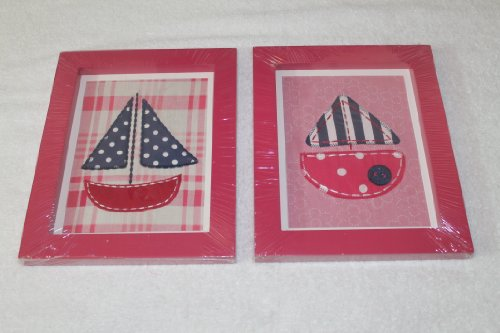 CoCaLo Sail Boat 2 Pc Framed Art Set - 1