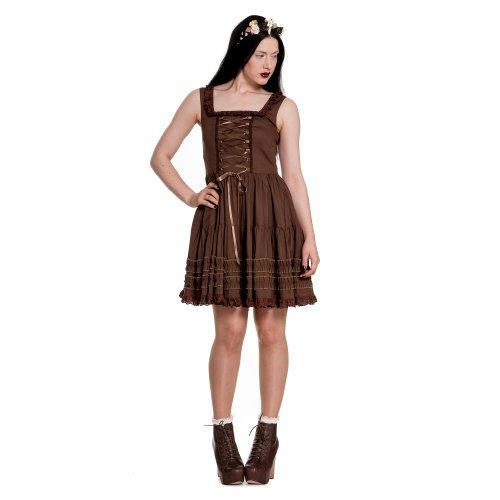 Spin Doctor dell'abito GRACE DRESS brown marrone Small