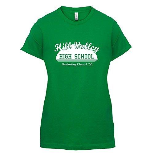 hill-valley-high-school-1955-da-donna-t-shirt-11-colori-verde-irlandese-16-2xl