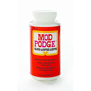 Mod Podge CS11202 Original 16-Ounce Glue, Gloss Finish - Quick-drying for multiple coat build up