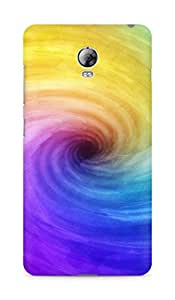 Amez designer printed 3d premium high quality back case cover for Lenovo Vibe P1 (Funnel colorful paint)