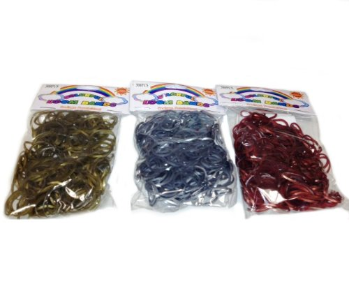 WeGlow International Colorful Loom Bands (900 Loops and 24 S-Clips), Metallic Assorted Colors - 1