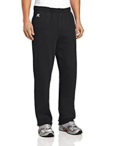 Russell Athletic Men's Dri-Power Fleece Pocket Pant,Black,Medium