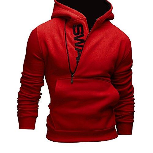 OverDose De manga larga para hombre sudadera con capucha Sudadera con capucha Tops Outwear la capa de la chaqueta