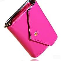 EOZY Multifunction Envelope Wallet Case Purse for Phone Card Holder Leather Flip (#5Rose)