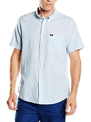 Lee Camisa Hombre Button Down Ss (Azul Claro)