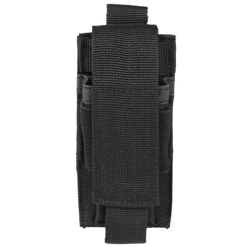 Combat Tactical Single Pistol Magazine Pouch MOLLE System Webbing Airsoft Black