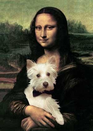 Westie Art Print Mona Lisa