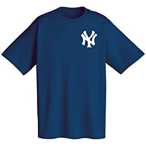 MLB New York Yankees Wordmark T-Shirt, Navy, XX-Large