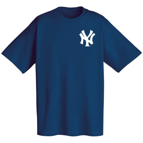 Majestic Mlb Wordmark T-Shirt Nvy Yankees Xl
