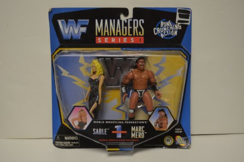 "Sable & Marc Mero - WWF Managers - 6"" action figure two pack set - Series 1 - Jakks Pacific Toys"