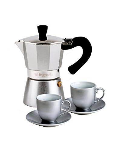 Tognana Cafetera 5 Piezas My coffee Silver 2 Tz Plata