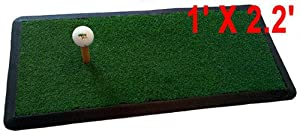 Heavy Duty GOLF HITTING PRACTICE MAT Chipping Driving Launch Pad net 1' x 2.2' by MBSellers