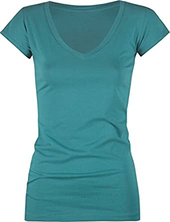 FULL TILT Essential V-Neck Womens Tee