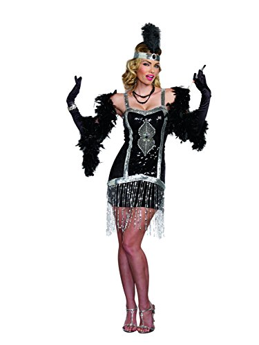 Dreamgirl Women's Sexy 1920's Flapper Costume, Simply Fab