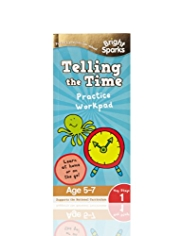 Bright Sparks Key Stage 1 Telling the Time Practice Workpad