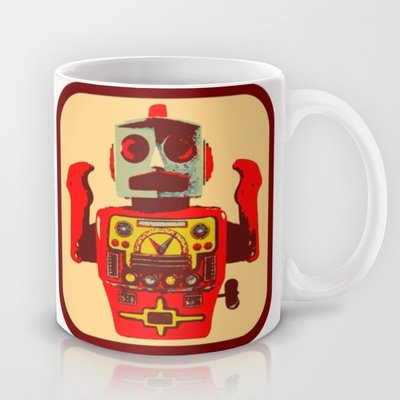 Society6 - Robot Ii Coffee Mug By Silvio Ledbetter