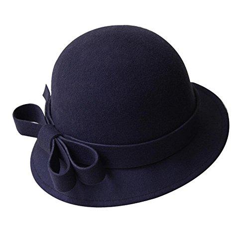 Chapeau-de-feutre-de-laine-de-bowknot-Chapeau-de-bowling-de-laine-de-Billycock-de-cru-bord