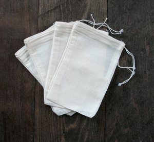 Cotton Muslin Bags 4X6 Inches 100 Count Pack