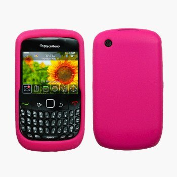 Hot Pink Silicone Case / Skin / Cover for RIM BlackBerry Curve 8520 / 8530